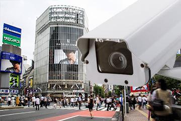鮮明な監視カメラ映像